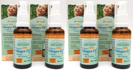 Sänger-Öl Spray 4er-Pack