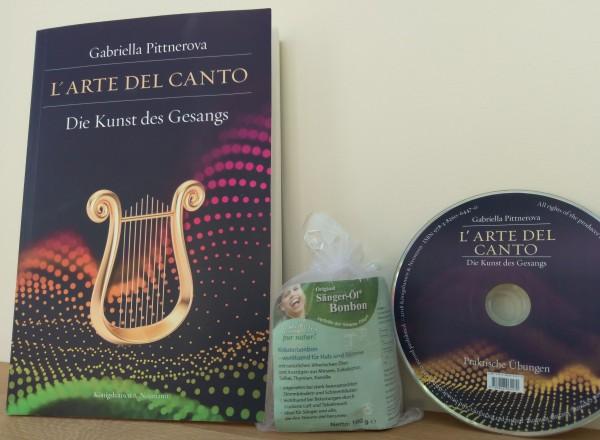 """Bundle """"L´ARTE DEL CANTO - Die Kunst des Gesangs"""" plus CD plus Sänger-Öl Bonbon 100 g kostenlos dazu"""